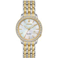 Citizen Silhouette Diamond Damenuhr in Zweifarbig EW2284-57D von Citizen