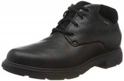 Clarks Herren Un Tread UpGTX Klassische Stiefel, Schwarz (Black Leather Black Leather), 43 EU von Clarks