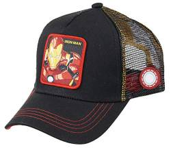 Collabs Capslab Iron Man Trucker Cap Marvel Black - One-Size von Collabs