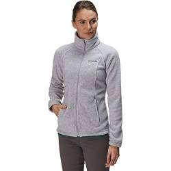 Columbia Damen Benton Springs Classic Fit Full Zip Soft Fleece Jacket Fleecejacke, Cirrus Grey Heather, Small von Columbia