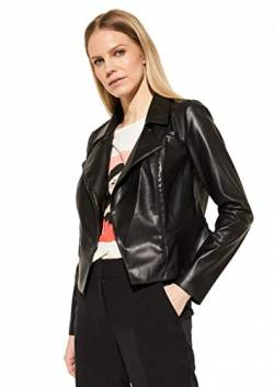Comma (NOS) Damen 85.899.56.1080 Kunstlederjacke, 9999 Black, 34 von Comma (NOS)