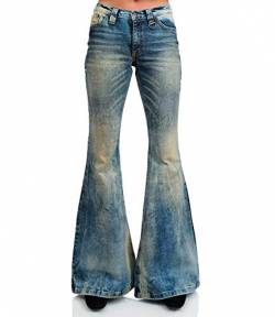 Comycom Stretch Jeans Schlaghose Light Dirty Star Bandit 38/32 von Comycom