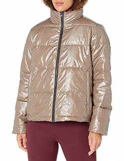 Core 10 High Shine Puffer Full-Zip athletic-insulated-jackets, bronze, Medium (8-10) von Core 10
