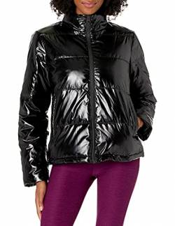 Core 10 High Shine Puffer Full-Zip athletic-insulated-jackets, schwarz, Small (4-6) von Core 10