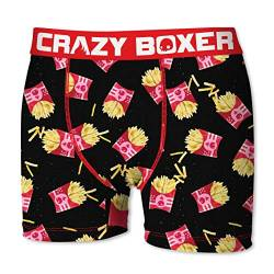 Crazy Boxer 28 Top Design's Herren Boxershort/Retroshort Fun-Edition, MEGA-Designs (L/6/50, Pommes) von Crazy Boxer
