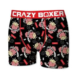 Crazy Boxer 28 Top Design's Herren Boxershort/Retroshort Fun-Edition, MEGA-Designs (L/6/50, Popcorn) von Crazy Boxer