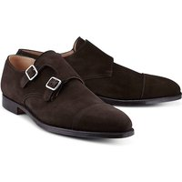 Crockett & Jones, Doublemonk Lowndes in dunkelbraun, Slipper für Herren von Crockett & Jones