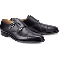 Crockett & Jones, Doublemonk Lowndes in schwarz, Slipper für Herren von Crockett & Jones