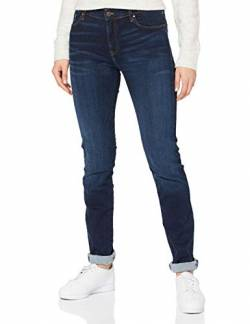 Cross Jeans Damen Anya P 489-098 Slim Jeans, Blau (Dark Blue 136), W32/L34 von Cross