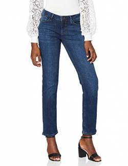 Cross Jeans Damen Rose Straight Jeans, Blau (Dark Blue Used 057), W32/L36 (Herstellergröße: 32/36) von Cross