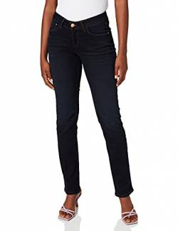 Cross Jeans Damen Straight Leg Jeanshose Rose, Gr. W32/L32 (Herstellergröße: 32), Blau (blue black used 026) von Cross