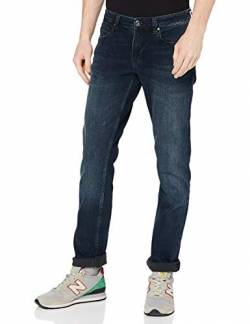 Cross Herren Dylan Tapered Fit Jeans, Blau (Blue Black 098), W36/L34 von Cross