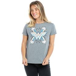 DC Comics Damen Ww Burst T-Shirt, Grau (Graphite Heather Grh), 36 (Herstellergröße: SMALL) von DC Comics
