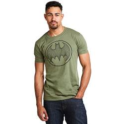 DC Comics Herren Batman 3D T-Shirt, Grün (Military Green Military), X-Large von DC Comics