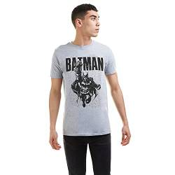 DC Comics Herren Batman Strike T-Shirt, Grauer Mergel, Large von DC Comics