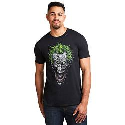 DC Comics Herren T-Shirt Joker Schwarz (Black Blk) Medium von DC Comics