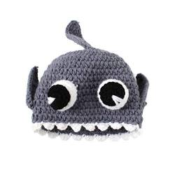 DELEY Unisex Baby Cartoon Crochet Knit Hai Hut Baby Kleidung Outfit Foto Requisiten 0-6 Monate von DELEY