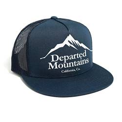 DEPARTED Herren Mesh Trucker Hat mit Print/Aufdruck - Snapback Cap - No. 48, Coastal Navy von DEPARTED
