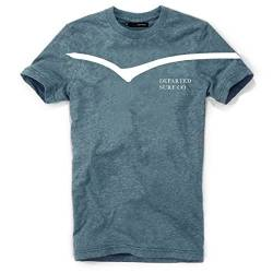 DEPARTED Herren T-Shirt mit Print/Motiv 3803-250 - New fit Größe L, Ocean Denim Blue Triblend von DEPARTED
