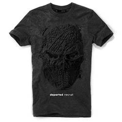 DEPARTED Herren T-Shirt mit Print/Motiv 3942-160 - New fit Größe XL, Dark Heather von DEPARTED