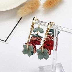 Earings Holiday Quaste Ohrringe für Frauen Ohrringe Big Band Style Ethnische Frau Summer Drop Ohrring Blume   ez1cai von DFDLNL