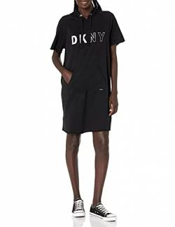 DKNY Damen Women's Logo Sneaker Dress Bademode, Cover-Up, Ultra Black, X-Large von DKNY