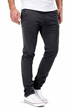 DSTROYED ® Chino Herren Slim fit Chinohose Stretch Designer Hose Neu 505 (33-32, 505 Dunkelgrau) von DSTROYED
