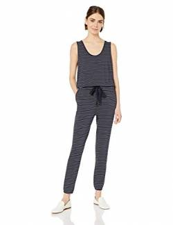 Amazon-Marke: Daily Ritual Supersoft Terry Sleeveless Jumpsuit pants, Navy/White Stripe, US M (EU M - L) von Daily Ritual