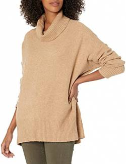 Daily Ritual Cozy Boucle Turtleneck Sweater pullover-sweaters, Camel Heather, US (EU XS-S) von Daily Ritual