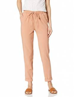 Daily Ritual Fluid Stretch Woven Twill Cuffed Pants, Clay, US (EU XS-S) von Daily Ritual