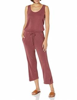 Daily Ritual Sandwashed Modal Blend Sleeveless Wide-Leg Jumpsuits-Apparel, Korallenrot, US M (EU M - L) von Daily Ritual