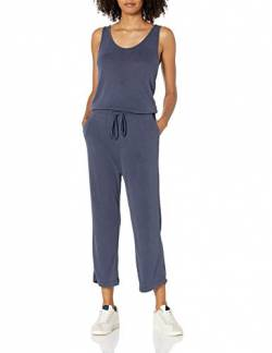 Daily Ritual Sandwashed Modal Blend Sleeveless Wide-Leg Jumpsuits-Apparel, Navy, US S (EU S - M) von Daily Ritual