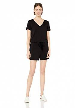 Daily Ritual Supersoft Terry Short-Sleeve V-Neck Romper rompers-apparel, Black, US M (EU M - L) von Daily Ritual