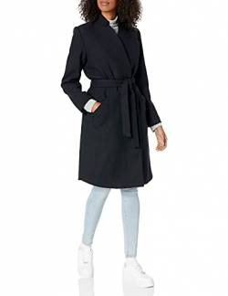 Daily Ritual Wool Belted Coat outerwear, Navy Herringbone, US 12 (EU L) von Daily Ritual