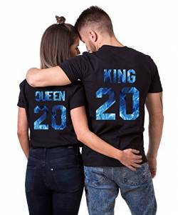 Daisy for U 2020 Neu T-Shirts Hoodie King Queen Shirts 1 Stücke-Schwarz-blau-Queen(Damen)-L von Daisy for U