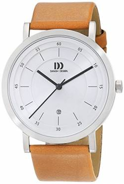 Danish Design Herren Analog Quarz Uhr mit Leder Armband 3314529 von Danish Design