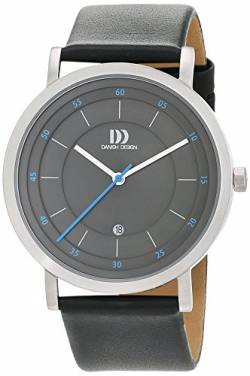 Danish Design Herren Analog Quarz Uhr mit Leder Armband 3314530 von Danish Design