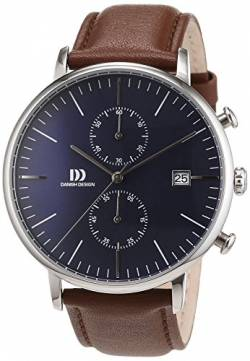 Danish Design Herren-Armbanduhr Analog Quarz Leder 3314506 von Danish Design