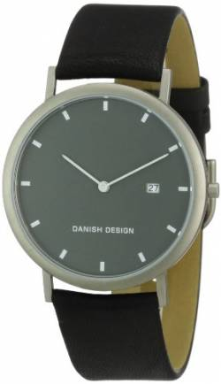 Danish Design Herren-Armbanduhr XL Analog Leder 3316282 von Danish Design