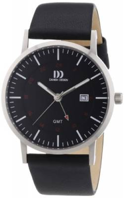 Danish Design Herren-Armbanduhr XL Analog Quarz Leder 3314447 von Danish Design