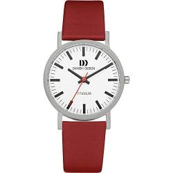 Danish Design Herren-Armbanduhr XL Analog Quarz Leder 3316322 von Danish Design