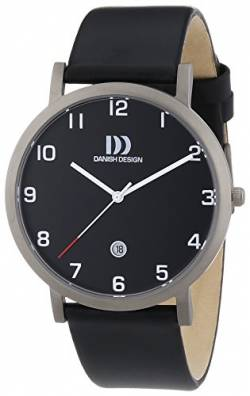 Danish Design Herren-Armbanduhr XL Analog Quarz Leder 3316327 von Danish Design