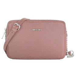 David Jones - Damen Kleine Umhängetasche Quadratisch - Schultertasche Kette Handtasche PU Leder - Crossbody Messenger Bag - Abendtasche Clutch Pochette City Tasche Mode Elegant - Rosa von David Jones
