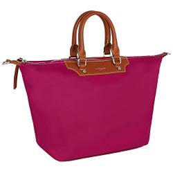 David Jones - Damen Tote Shopper Nylon wasserdichte Handtasche - Tragetasche Schultertasche - Shopping Bag Große Kapazität - Umhängetasche Schultertasche Casual Arbeit Reise - Fuchsia von David Jones