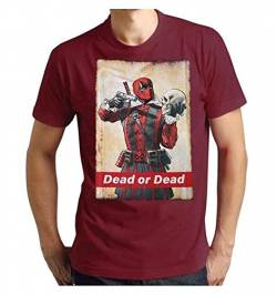 Deadpool Herren T-Shirt, Bordeaux, M von Deadpool