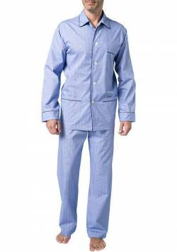 DEREK ROSE Piped Pyjama Set 5005/FELS003BLU von Derek Rose
