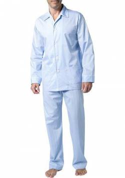 DEREK ROSE Piped Pyjama Set 5005/STOW031BLU von Derek Rose