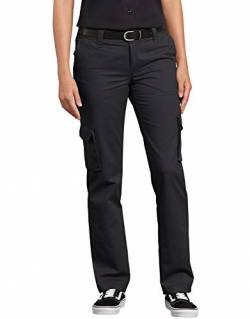 Dickies Damen Relaxed Fit Stretch Cargo Straight Leg Pant Arbeitshose, schwarz, 34 von Dickies