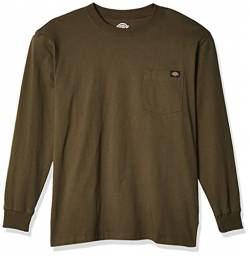 Dickies Herren Long Sleeve Heavyweight Crew Neck T-Shirt, moosgrün, X-Groß von Dickies