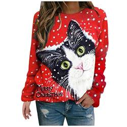 Plus Size Women Long Sleeve Casual Printed O-Neck Tops Tee T-Shirt Blouse von Dinnesis